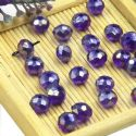 Beads, Selenial Crystal, Crystal, Dark purple AB, Faceted Discs, 8mm x 8mm x 6mm, 10 Beads, [ZZC110]